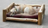 Rustic Log Dog Day Beds