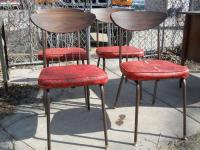 Set of 4 Mid Century Dinette Chairs for Sale in ...