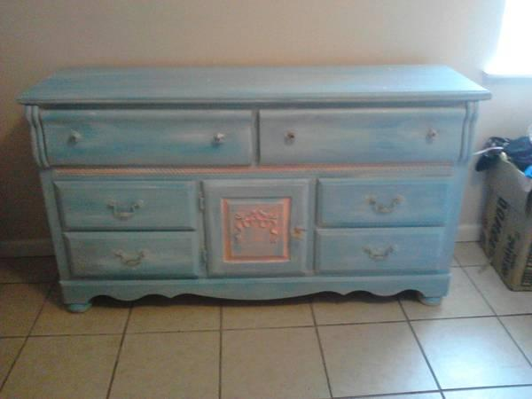 Shabby Chic Teal Dresser For Sale In Auburndale Florida