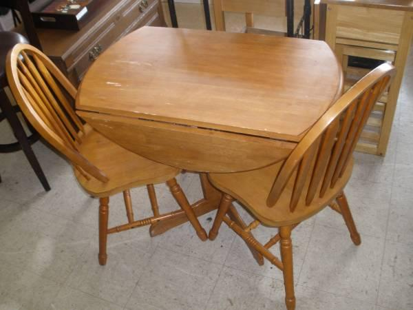 drop leaf kitchen table and chairs wrought iron chair cushions small cherry w 2 for sale in lexington kentucky