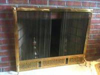 Solid Brass Sliding Mesh Screen Fireplace Protector for ...