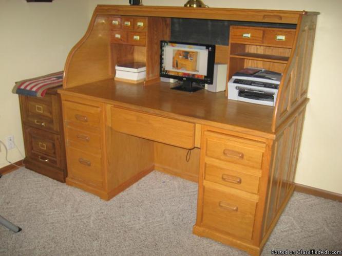 Solid Oak Roll Top Desk For Sale In Finley Missouri Classified