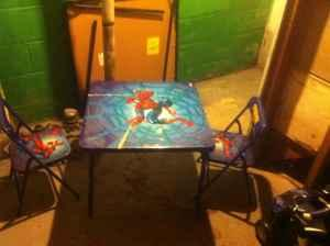 spiderman table and chairs fun for bedrooms spider man folding set shorewood sale in milwaukee wisconsin