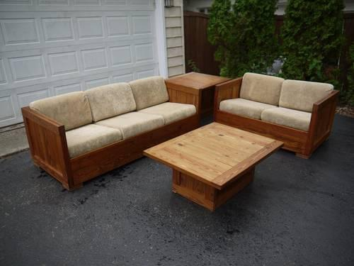 sofa and loveseat set up cardboard new leaf this end solid wood living room couch two tables