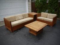 This End Up Solid Wood Living Room Set. Couch, Loveseat ...