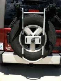 Thule bike rack (for over a spare tire) - (wilmington) for ...