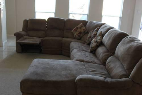 Used sectional sofa curved L shape for Sale in Missouri