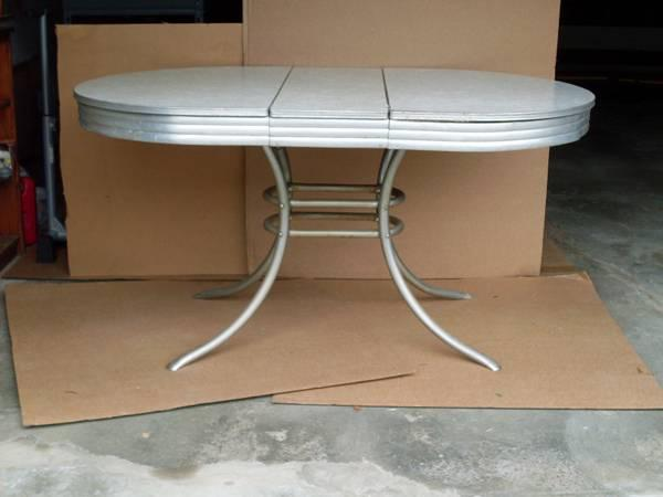 1950s kitchen table bistro vintage 50 s formica chrome for sale in east haven connecticut