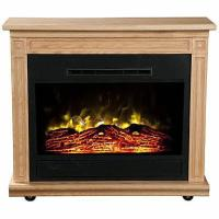 Warmth Rise Light Oak Spin-n-Glow Electric Fireplace Amish ...