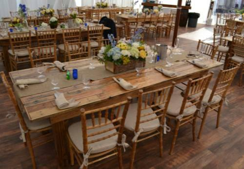 chair rentals philadelphia glam dining room covers wedding rent buy long wood rustic farm table party rental bench for sale in ...