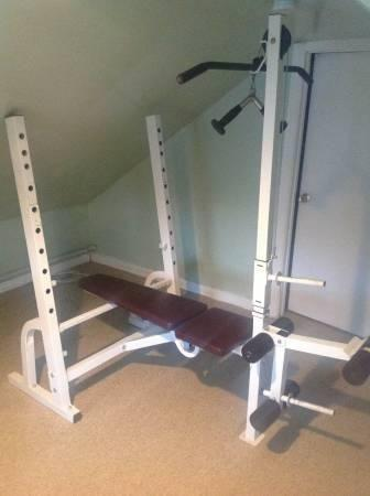 Weider Pro 375se Bench With Lat Tower And Preacher Curl