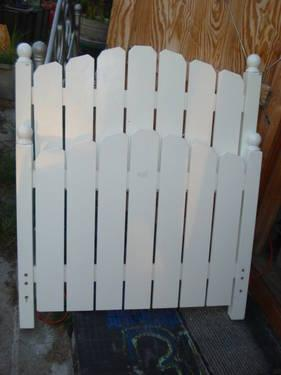 White Picket Fence Bed Frame Headboard And Foot Board