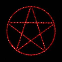 wiccan pentagram decor wicca pentacle wall led lighted washington agnew americanlisted decorating age