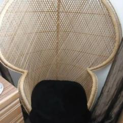 Childs Rattan Chair Sling Material Wicker Large 5' Tall Peacock Fan - For Sale In Prescott Valley, Arizona Classified ...