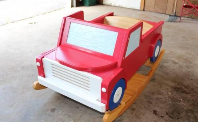 Wood Rocking Truck For Toddler And Up For Sale In