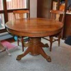 Round Oak Table And Chairs Lifetime Chair Cart Claw Foot Classifieds Buy Sell Antique 695 Caton Ny