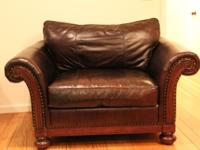 dark brown leather chair toddler plastic table and chairs set bernhardt sofa classifieds buy sell across the 1 2 with stud
