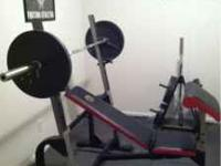 Gold S Gym Xr5 Olympic Weight Bench With 245lbs And Curl