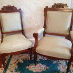 Eastlake Victorian Parlor Chairs Recliner Club Chair Set Classifieds Buy Sell His And Hers Burled