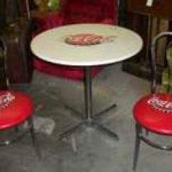 Coca Cola Chairs And Tables Steel Chair Godrej Vending Machine New Used Furniture For Sale In The Usa Vintage Style Soda Fountain Table W 2