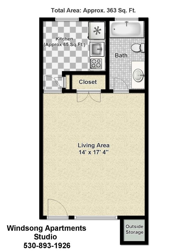 Floorplan Windsong Apartments