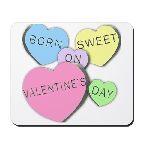 Candy Hearts Valentine Birthday Mousepad