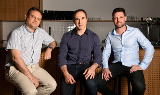 Founders of Fireblocks.  From the right: Idan Ofrat, Michael Shaulov and Pavel Berngolz