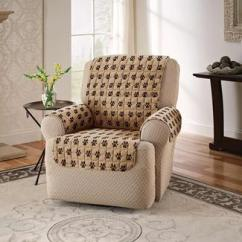 Seat Covers For Chairs With Arms Armchair Meaning Rv Furniture Camping World Paw Print Protector Recliner Width 23