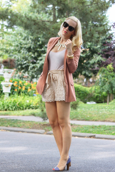 Chloe shoes - H&M blazer - H&M shorts