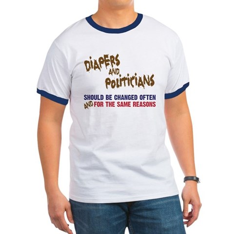 politicians and diapers political tshirt