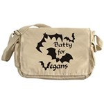 Batty for Vegans Messenger Bag