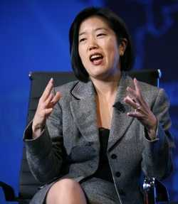 Michelle Rhee, Chancellor, District of Columbia Public Schools, speaks during