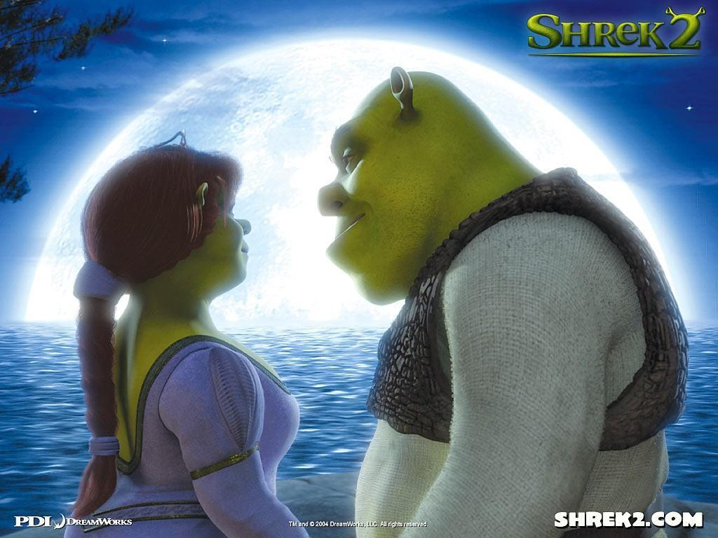 Princess Fiona and her husband Shrek - princess-fiona wallpaper