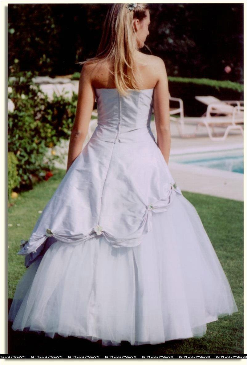 Blake modeling wedding dresses