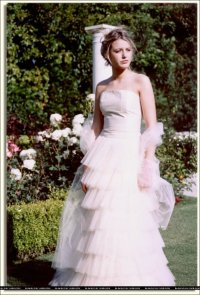 Blake modeling wedding dresses