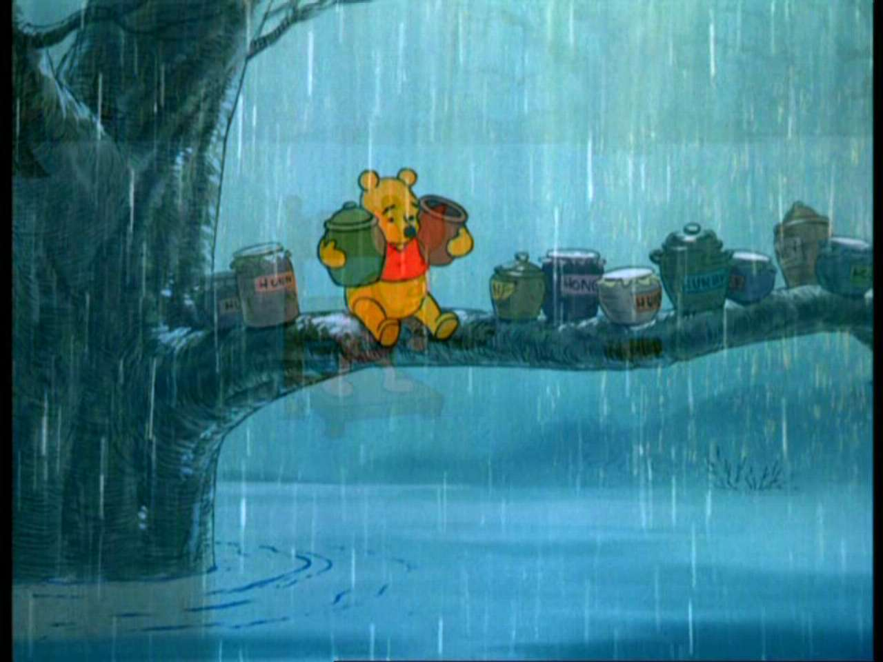 Wallpaper Falling Off Wall Winnie The Pooh And The Blustery Day Winnie The Pooh