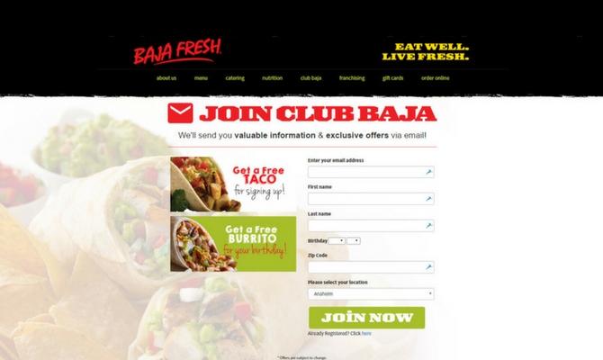 Baja Fresh Store Locator