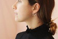Pamela Love 5 Spike Earrings in Sterling Silver | Garmentory