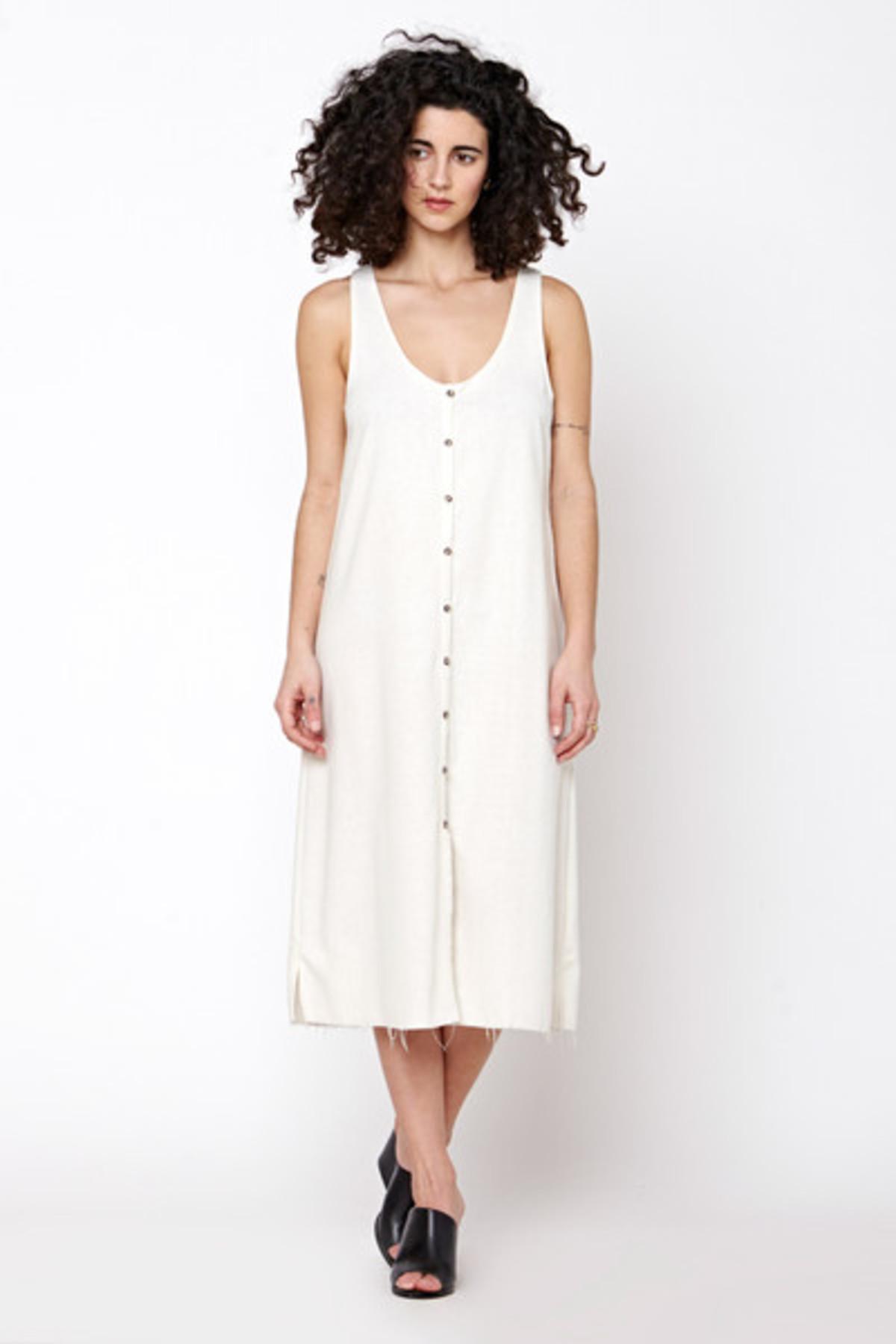 Lacausa Reversible Raw Silk Dress- Natural Garmentory