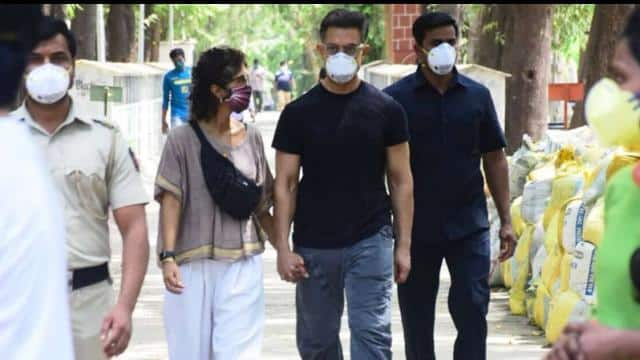 Aamir Khan with wife Kiran Rao and rani mukharjee snapped at the ...