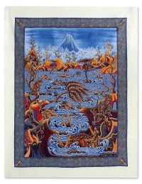 Indonesian Batik Cotton Wall Art - Nature Desire | NOVICA