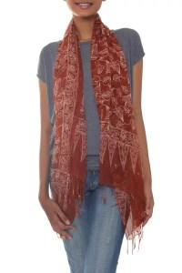 Unicef UK Market | Sheer Brown 100% Silk Chiffon Scarf ...