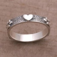 Sterling Silver Heart and Paw Print Ring from Bali - Paws ...