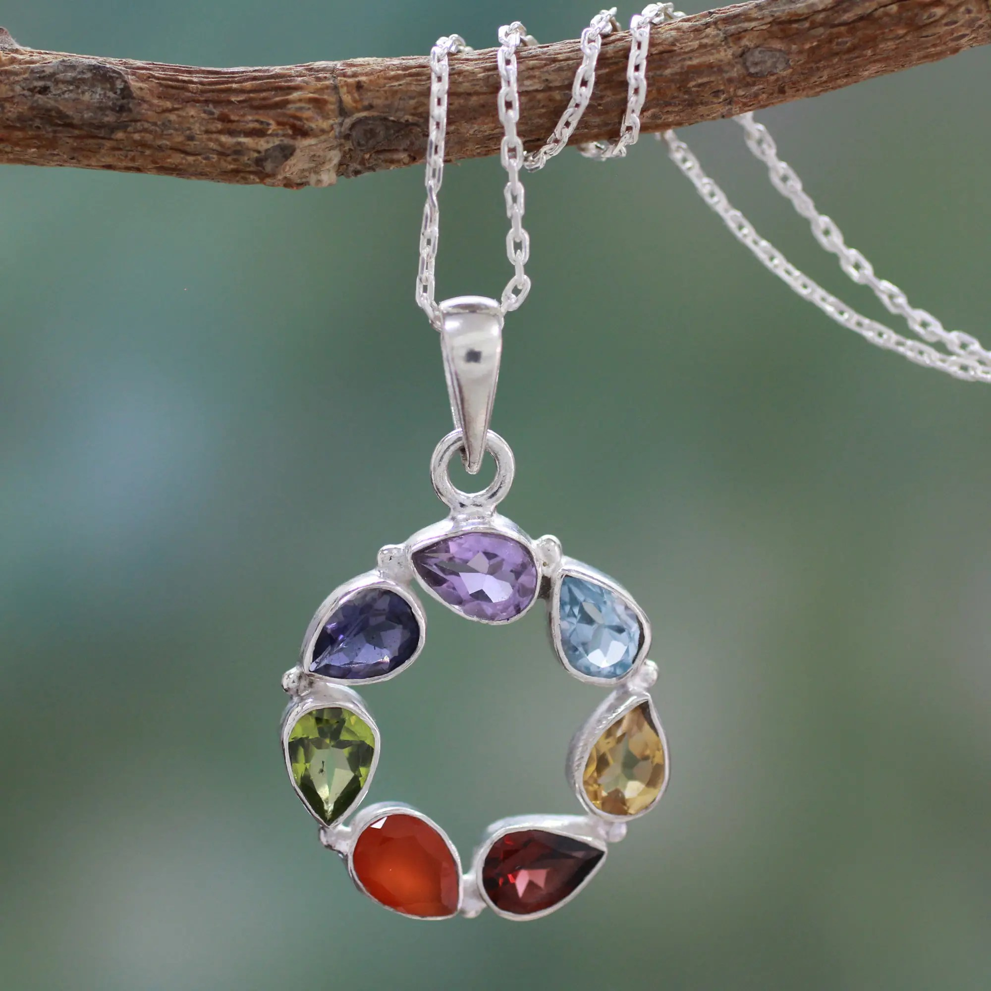 Unicef UK Market Multi Gemstone Necklace Chakra