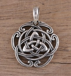 celtic knot sterling silver pendant from india artisan celtic reverie  [ 2000 x 2000 Pixel ]