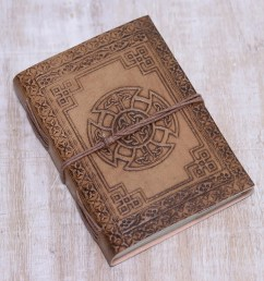 handcrafted celtic cross embossed brown leather journal celtic connections  [ 2000 x 2000 Pixel ]