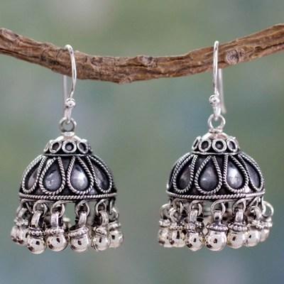 Sterling Silver Chandelier Earrings Bells Fair Trade Jewelry