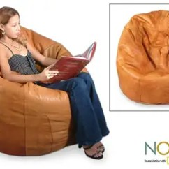 Bean Bag Chair Covers Folding Papasan Canada Leather Beanbag Cover Single Caress Novica