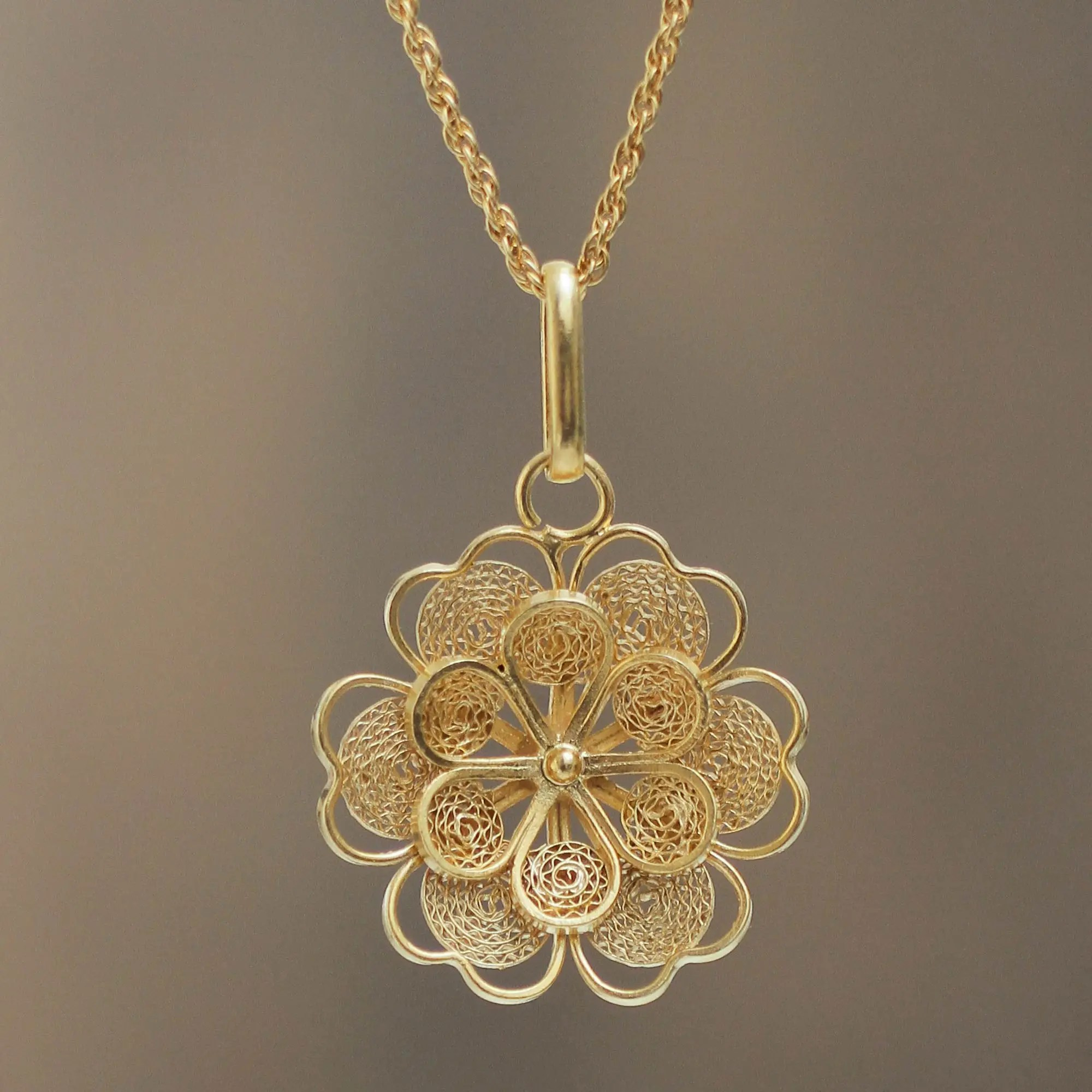 gold plated silver peruvian