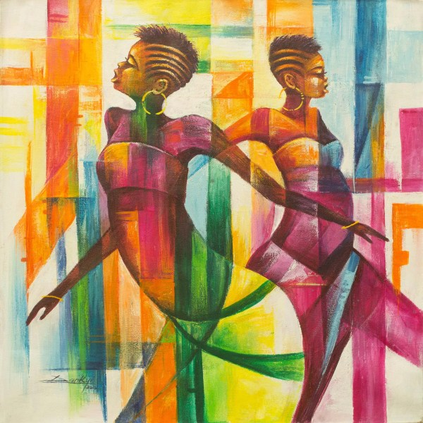 Unicef Market Multi Color Painting Of Women Dancing